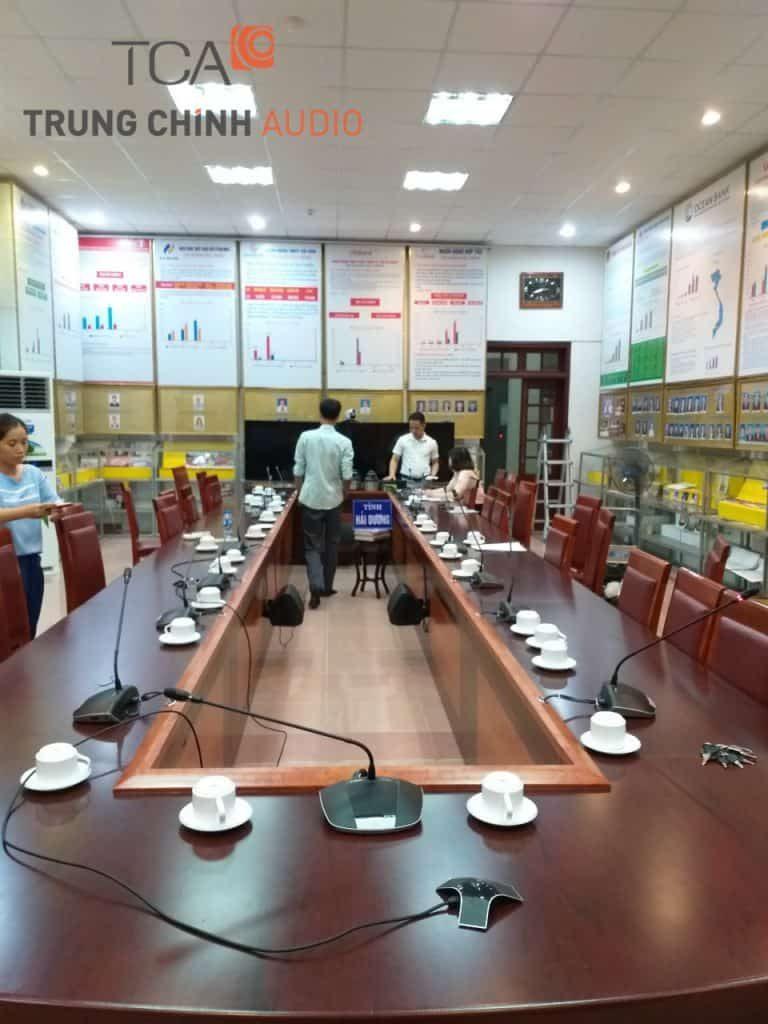 hệ thống âm thanh phòng họp ngân hàng nhà nước Hải Dương